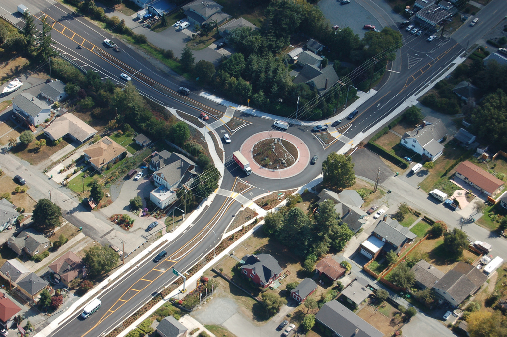 Roundabout in Anacortes