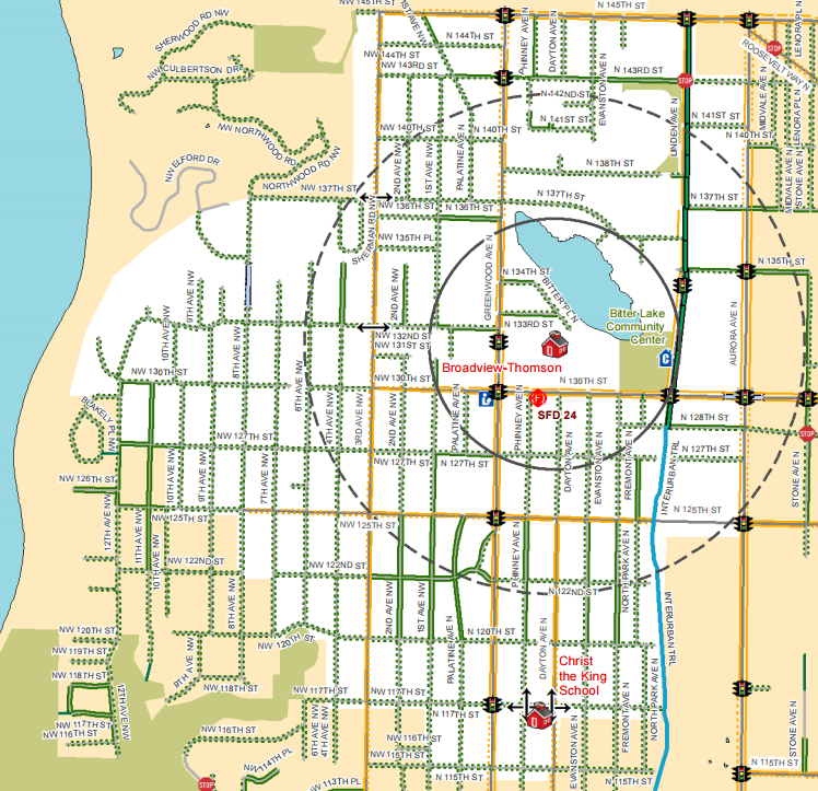 {Maps of the Week Safe Routes to School Maps The Urbanist – To and from Maps