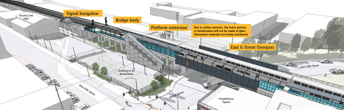 Trestle and platforms. (Sound Transit)